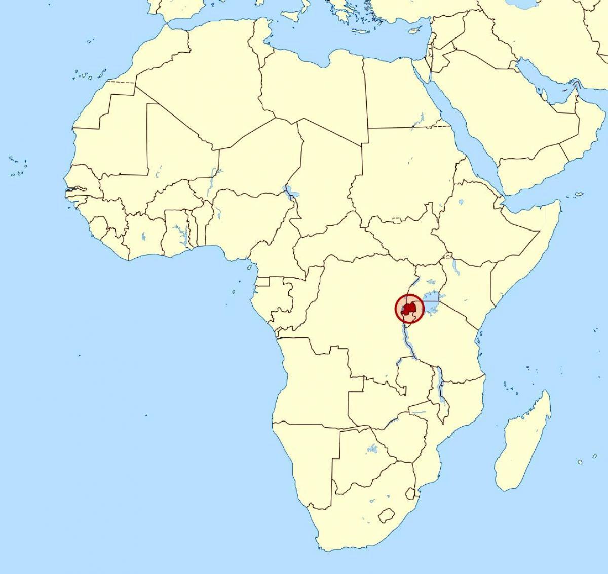 Rwanda Afrika Mapa Mapa Rwanda Afrika Vychodni Afrika Afrika